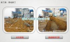 1-1钢板仓基础施工:定位放线与基础开挖