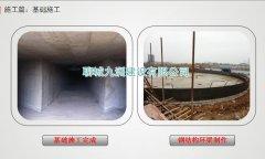 1-4钢板仓基础:钢结构环梁制作