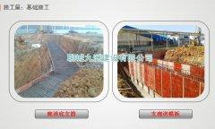 1-2钢板仓基础:廊道底支筋与支廊道模板